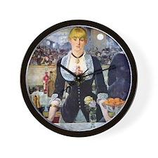 Édouard Manet Bar at the Folies Wall Clock