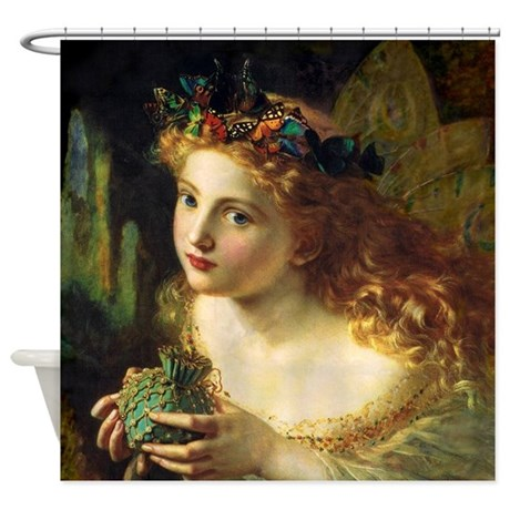 Sophie Gengembre Anderson Fairy Shower Curtain