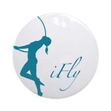 iFly Lyra Aerial Artist Silouhette Ornament (Round