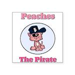 Peaches the Pirate.png Square Sticker 3