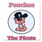 Peaches the Pirate.png Square Car Magnet 3