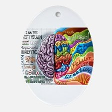Left Brain Right Brain Cartoon Poster Ornament (Ov