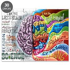 Left Brain Right Brain Cartoon Poster Puzzle