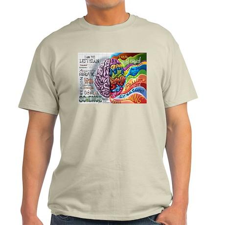 Left Brain Right Brain Cartoon Poster Light T-Shir