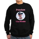 Peaches the Pirate.png Sweatshirt (dark)