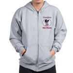 Peaches the Pirate.png Zip Hoodie