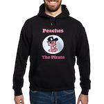 Peaches the Pirate.png Hoodie (dark)