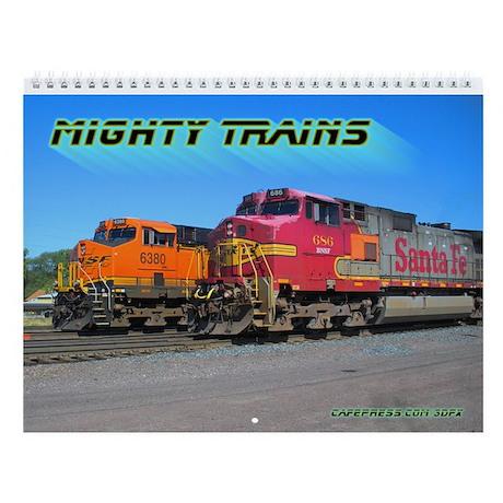 Mighty Trains Wall Calendar