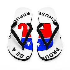 Massachusetts Republican Pride Flip Flops