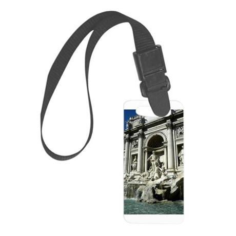 Trevi Fountain 5.jpg Small Luggage Tag