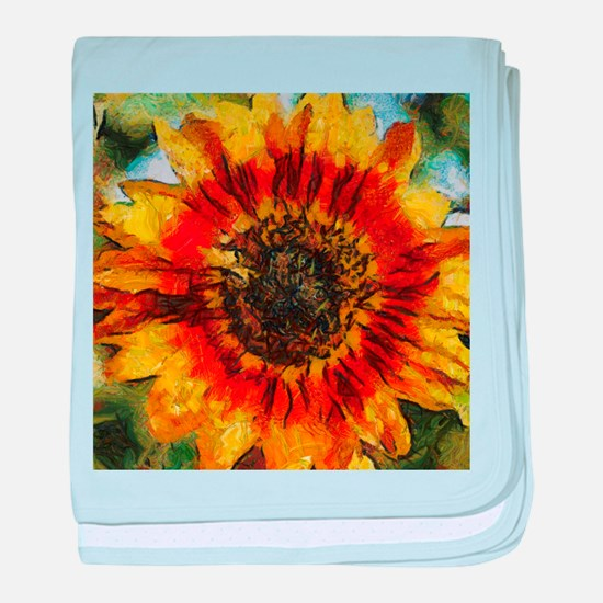 Sunflower Painting baby blanket