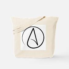 Atheist Symbol Tote Bag