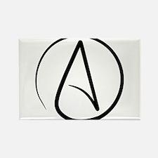 Atheist Symbol Rectangle Magnet