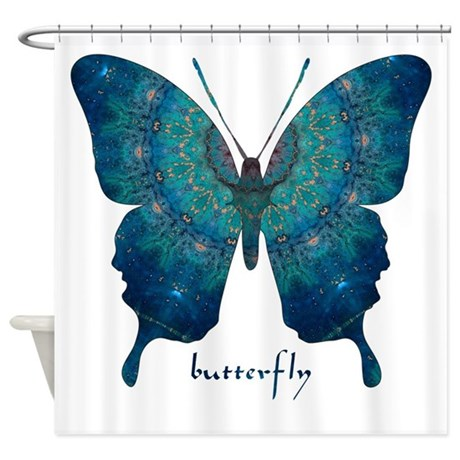 Mercy Butterfly Shower Curtain By Butterflywarehouse