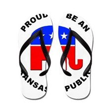 Arkansas Republican Pride Flip Flops
