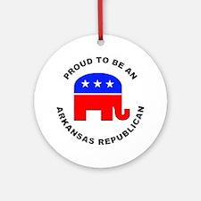 Arkansas Republican Pride Ornament (Round)