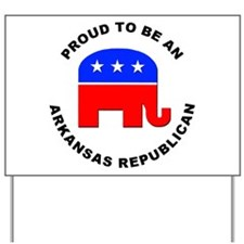 Arkansas Republican Pride Yard Sign