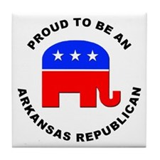 Arkansas Republican Pride Tile Coaster