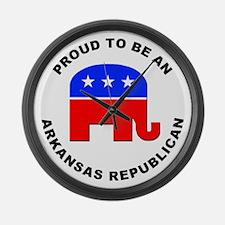Arkansas Republican Pride Large Wall Clock