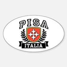 Pisa Italia Coat of Arms Sticker (Oval)