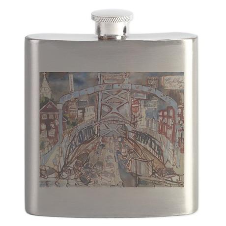 Philadelphia Benjamin Franklin Bridge Flask