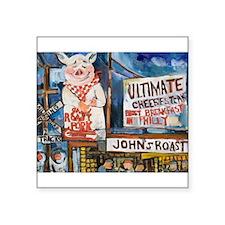 "Philadelphia Johns Roast Pork Square Sticker 3"" x"