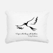 Feathered Hope Rectangular Canvas Pillow