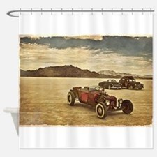 Hot Rods at Bonneville Shower Curtain