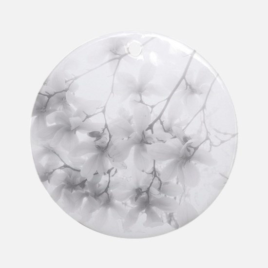 Ethereal Magnolia Blossoms Ornament (Round)