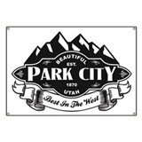 Skiing park city Banners