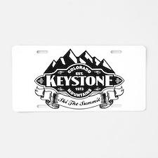 Keystone Mountain Emblem Aluminum License Plate