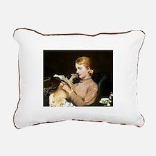Pug Love Rectangular Canvas Pillow