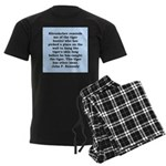 kennedy quote Men's Dark Pajamas