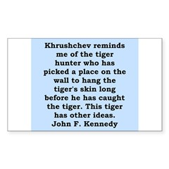 kennedy quote Decal