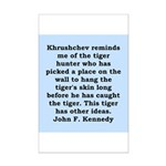 kennedy quote Mini Poster Print
