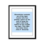 kennedy quote Framed Panel Print