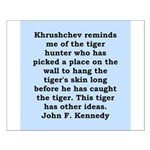 kennedy quote Small Poster