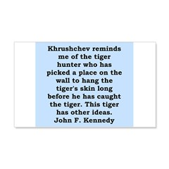 kennedy quote 20x12 Wall Decal