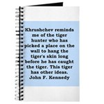 kennedy quote Journal