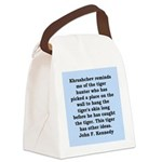 kennedy quote Canvas Lunch Bag
