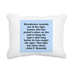 kennedy quote Rectangular Canvas Pillow