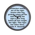 kennedy quote Wall Clock