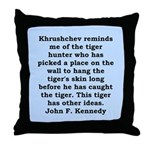 kennedy quote Throw Pillow