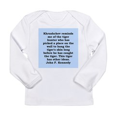 kennedy quote Long Sleeve Infant T-Shirt