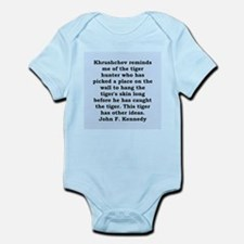 kennedy quote Infant Bodysuit