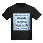 kennedy quote Kids Dark T-Shirt