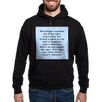 kennedy quote Hoodie (dark)
