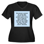 kennedy quote Women's Plus Size V-Neck Dark T-Shir