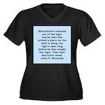 kennedy quote Women's Plus Size V-Neck Dark T-Shir