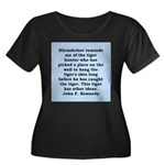 kennedy quote Women's Plus Size Scoop Neck Dark T-